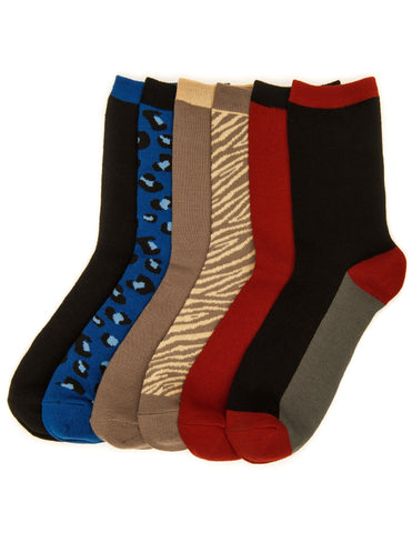 Women's Everyday Crew Socks - 6 Pairs