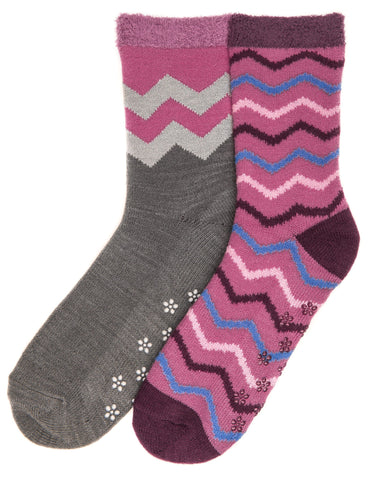 Women's Soft Premium Double Layer Winter Crew Socks - 2 Pairs