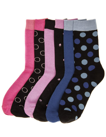 Women's Combed Cotton Premium Crew Socks