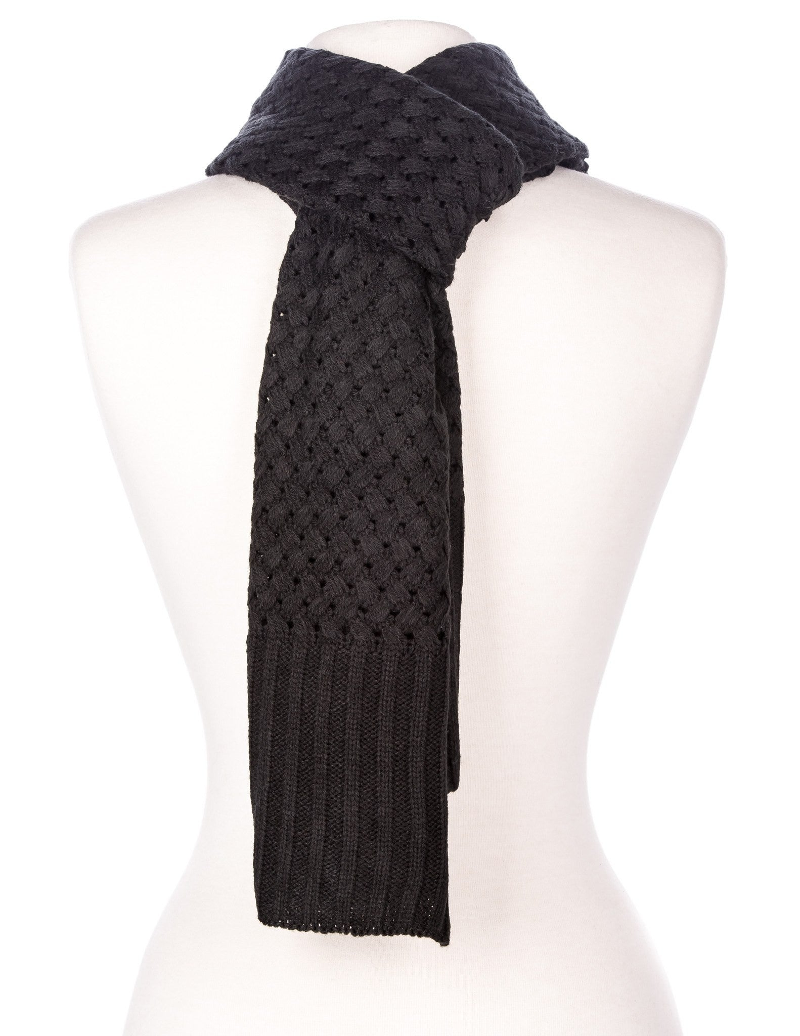 Men's Solid Weave Everyday Winter Scarf