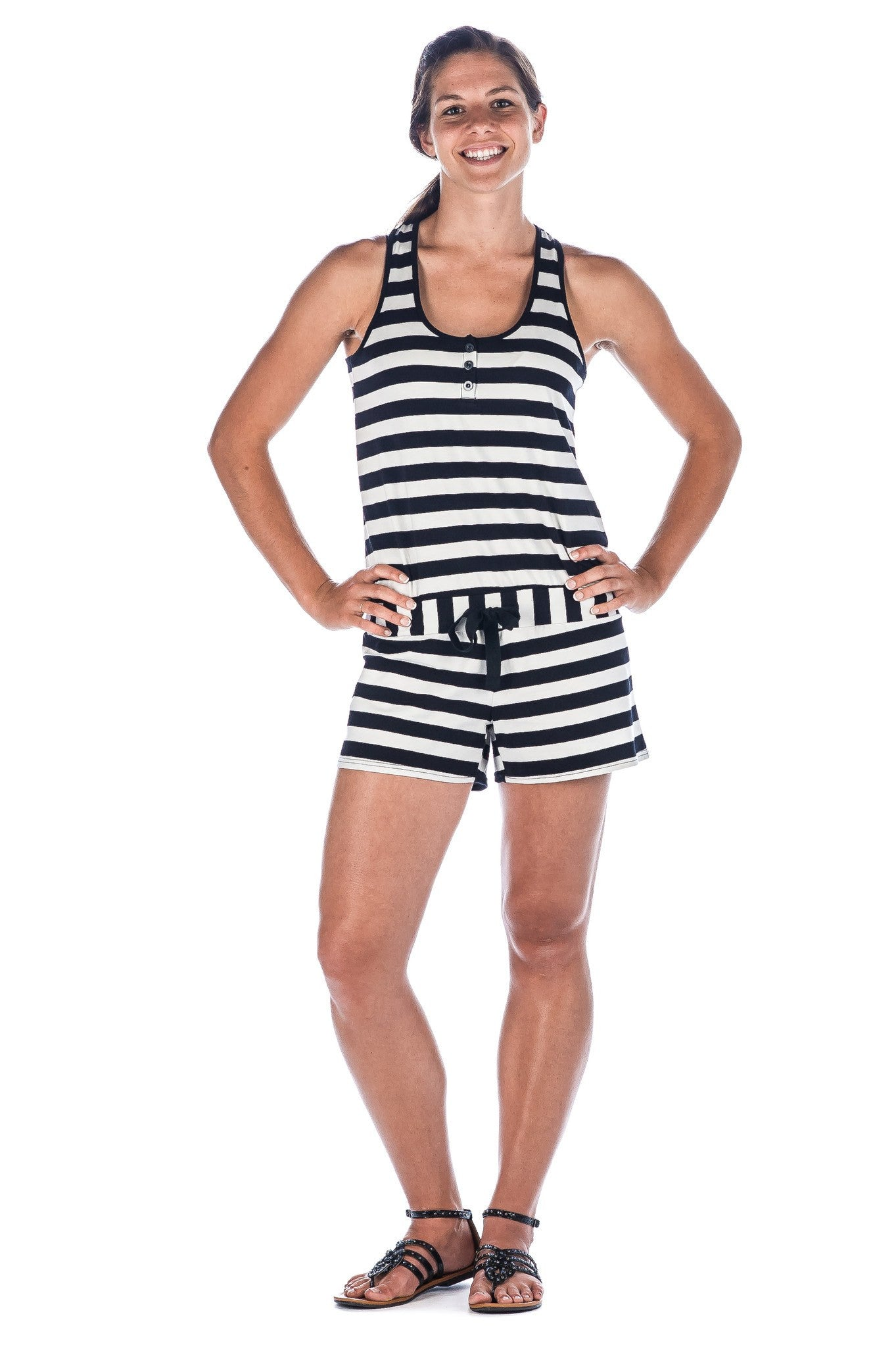 Women's Cotton/Spandex Knit Romper