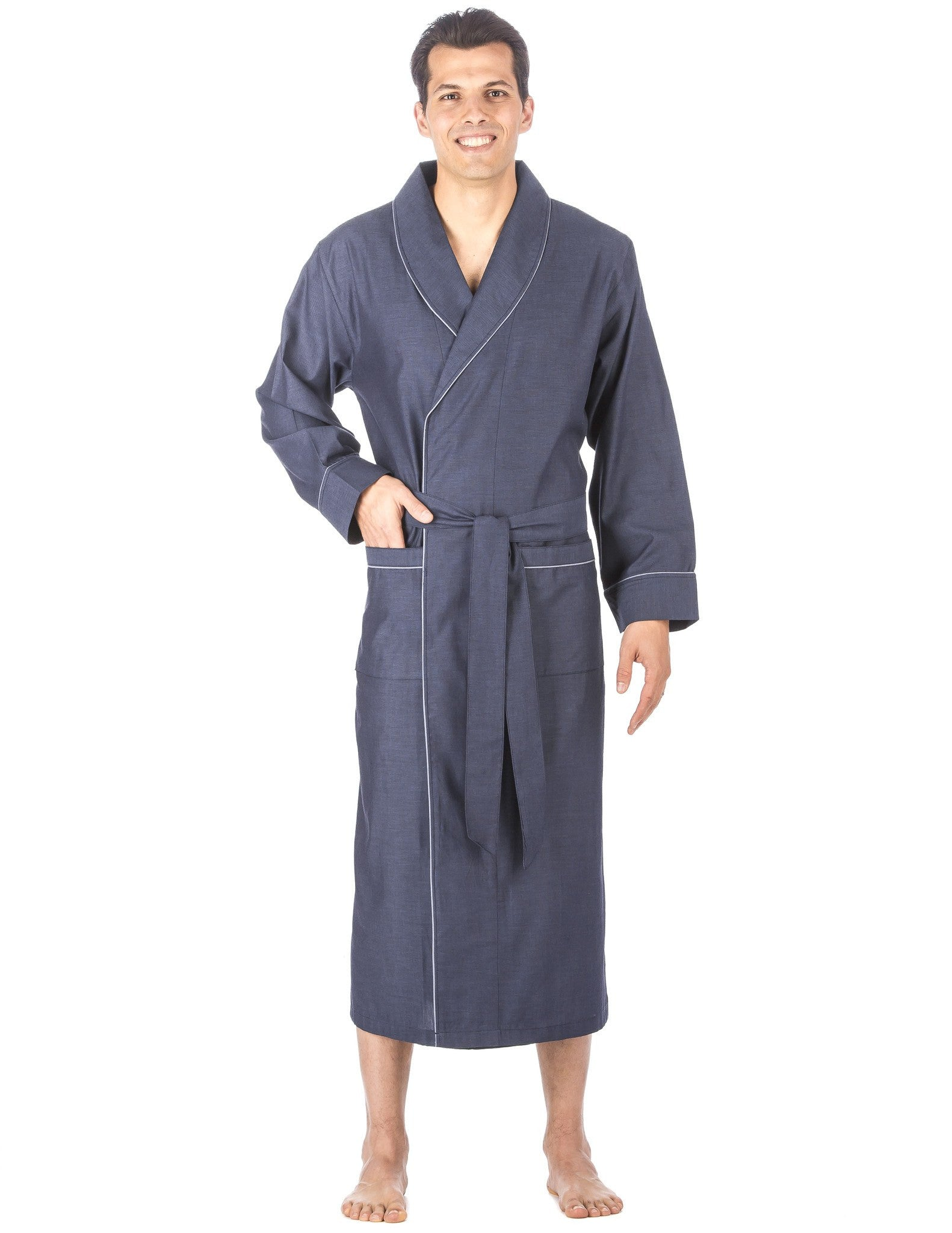 Men's Premium 100% Cotton Full-Length Robe