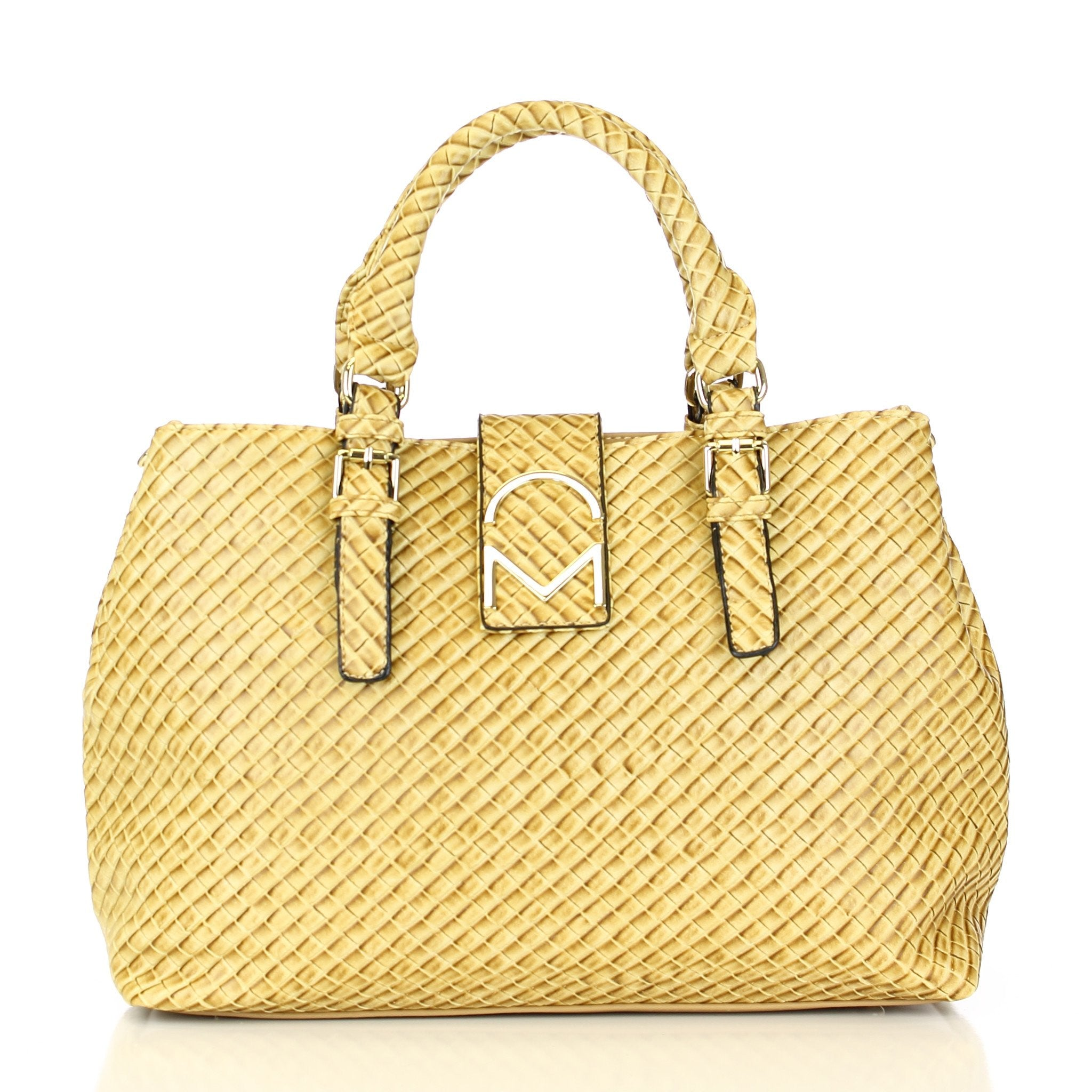 Weave Pattern Allure Satchel