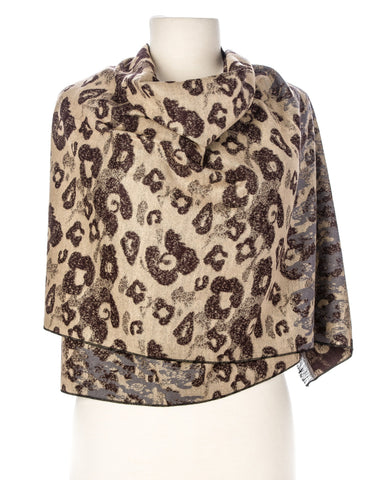 Cheetah Print Heavy Shawl/Wrap