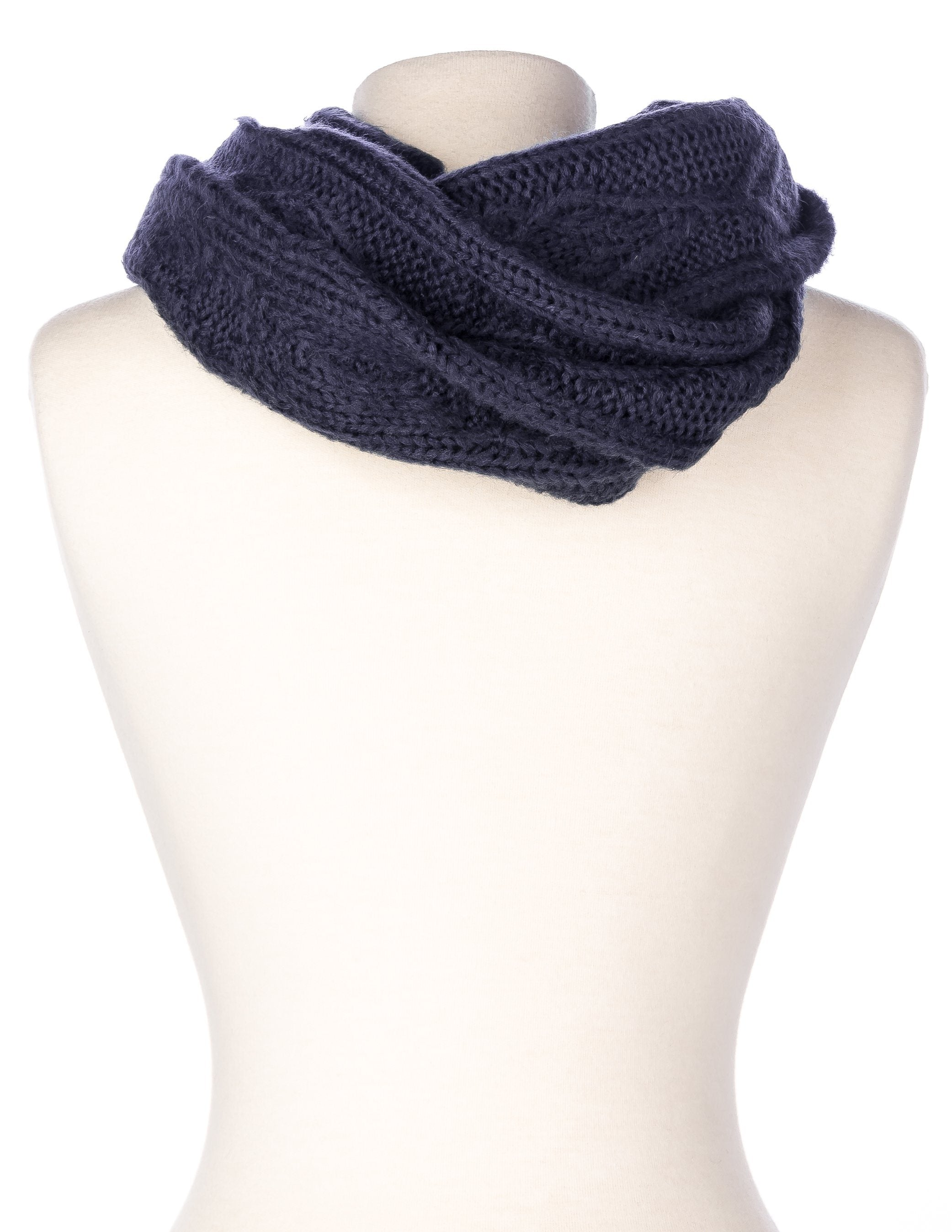 Noble Mount Mens Cable Knit Infinity Scarf