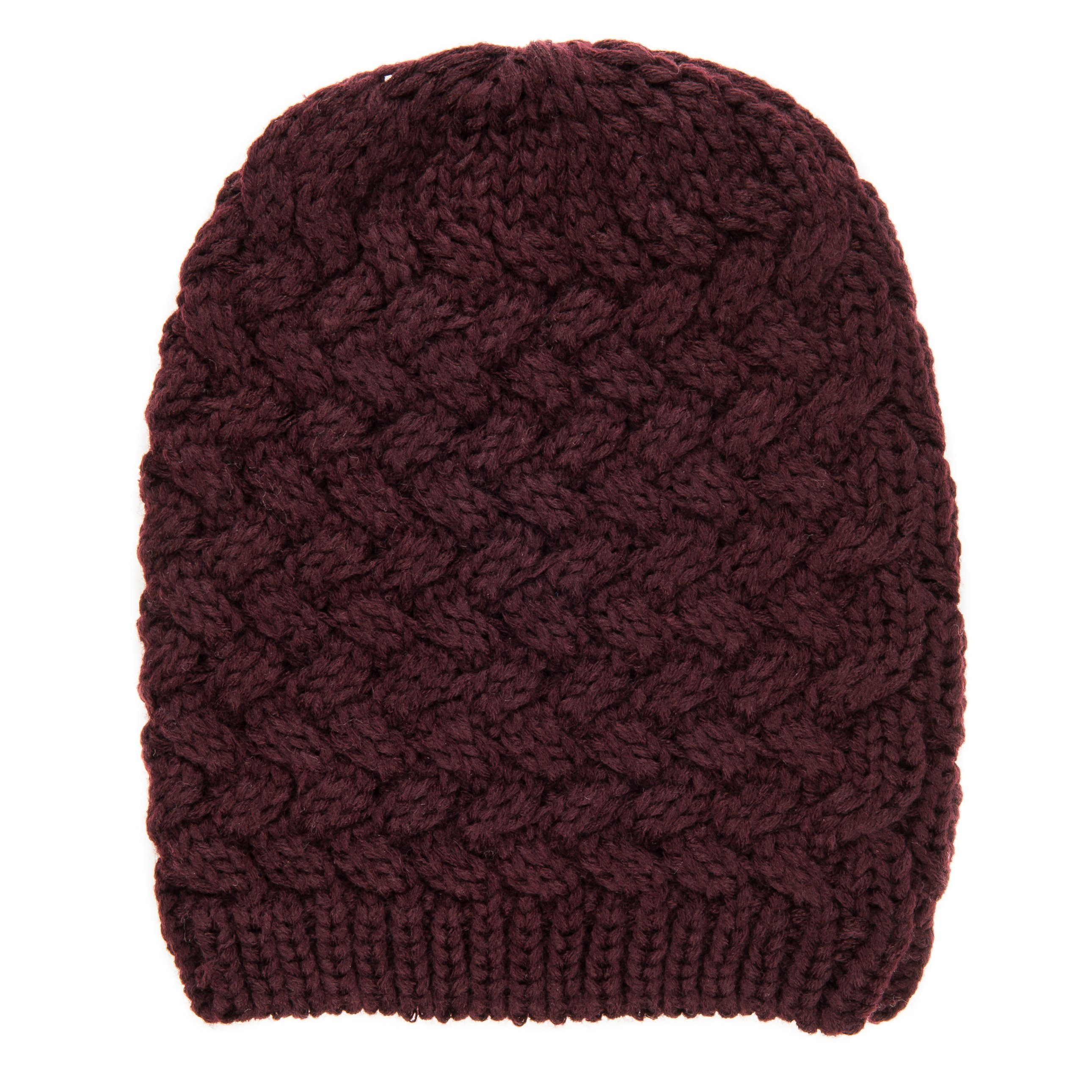 Noble Mount Mens Basket Weave Winter Hat