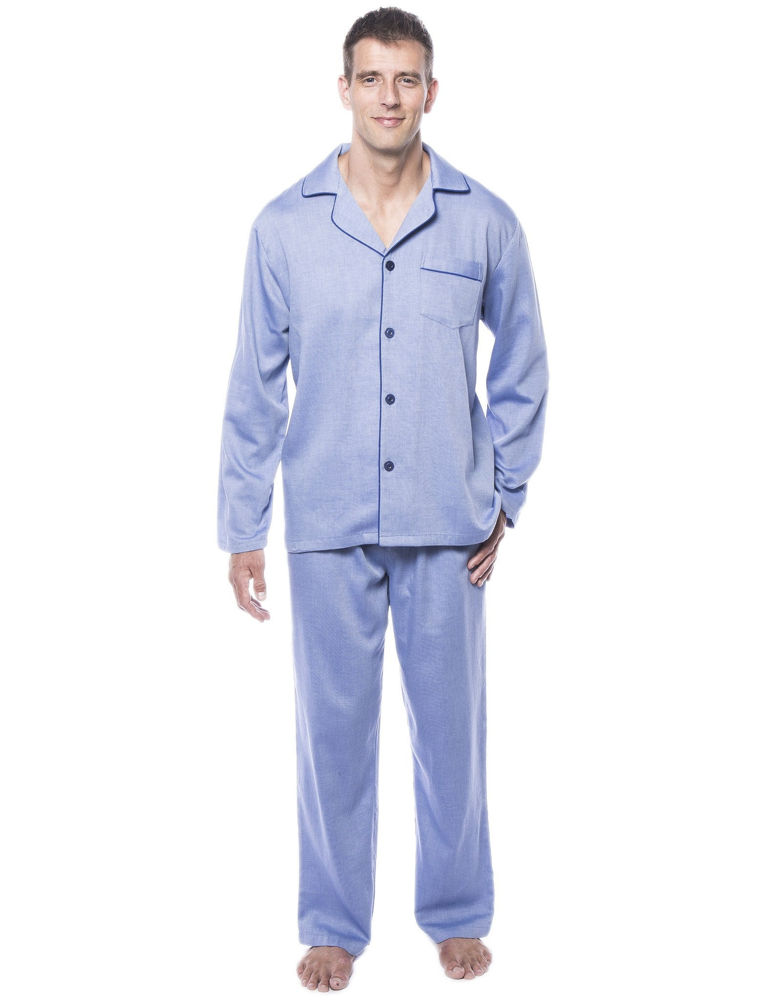 Men's 100% Woven Cotton Pajama Sleepwear Set