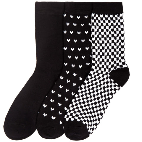 Women's Bamboo Crew Trouser Socks 3-Pack