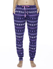 Women's Premium Flannel Jogger Lounge Pants