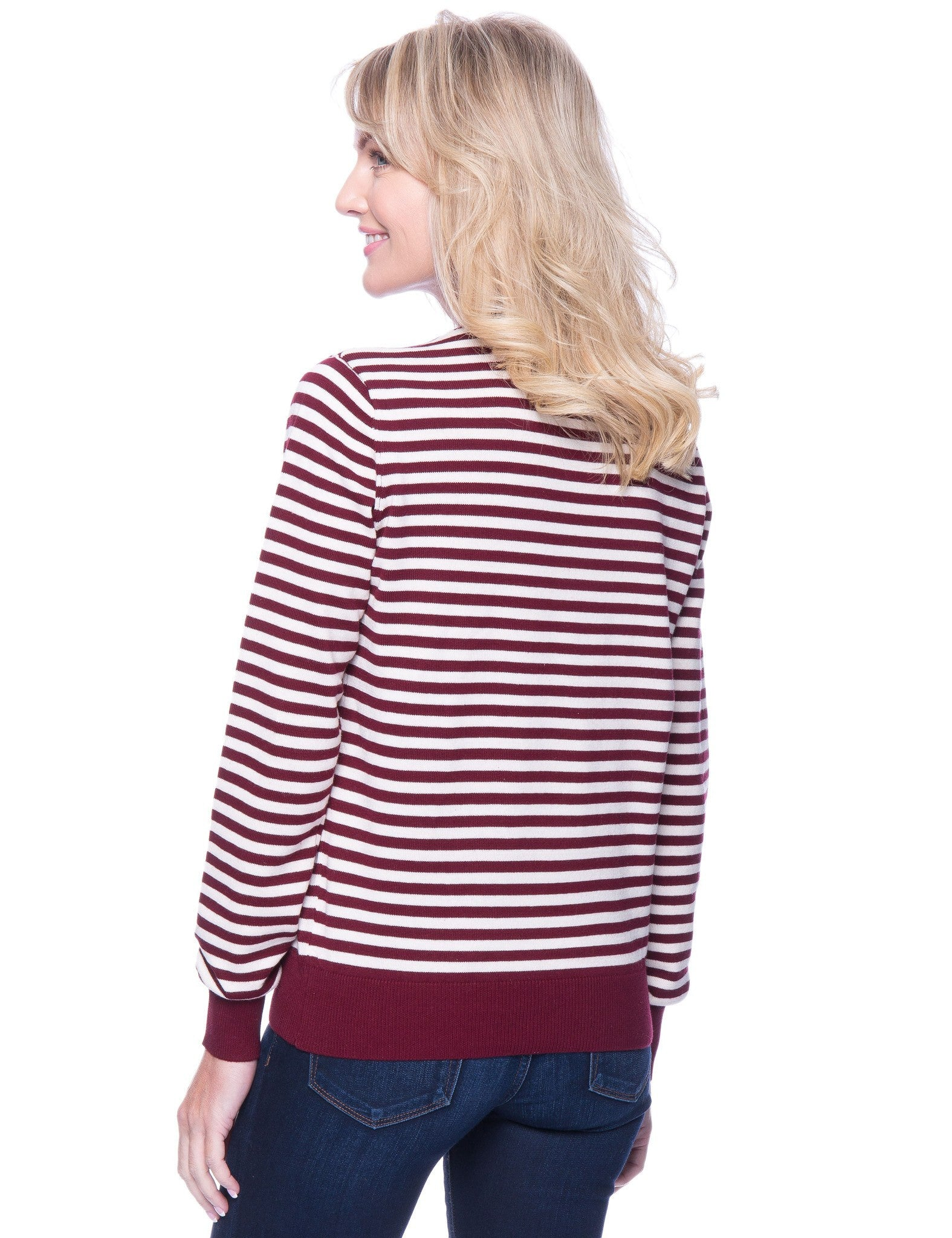 Stripes Bordeaux/Ivory