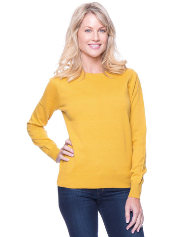 Tocco Reale Women's Premium Cotton Crew Neck Sweater