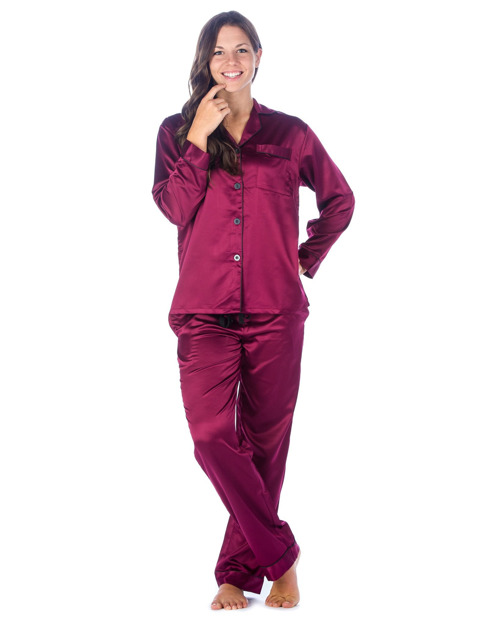 Women's Premium Satin Pajama Sleepwear Set