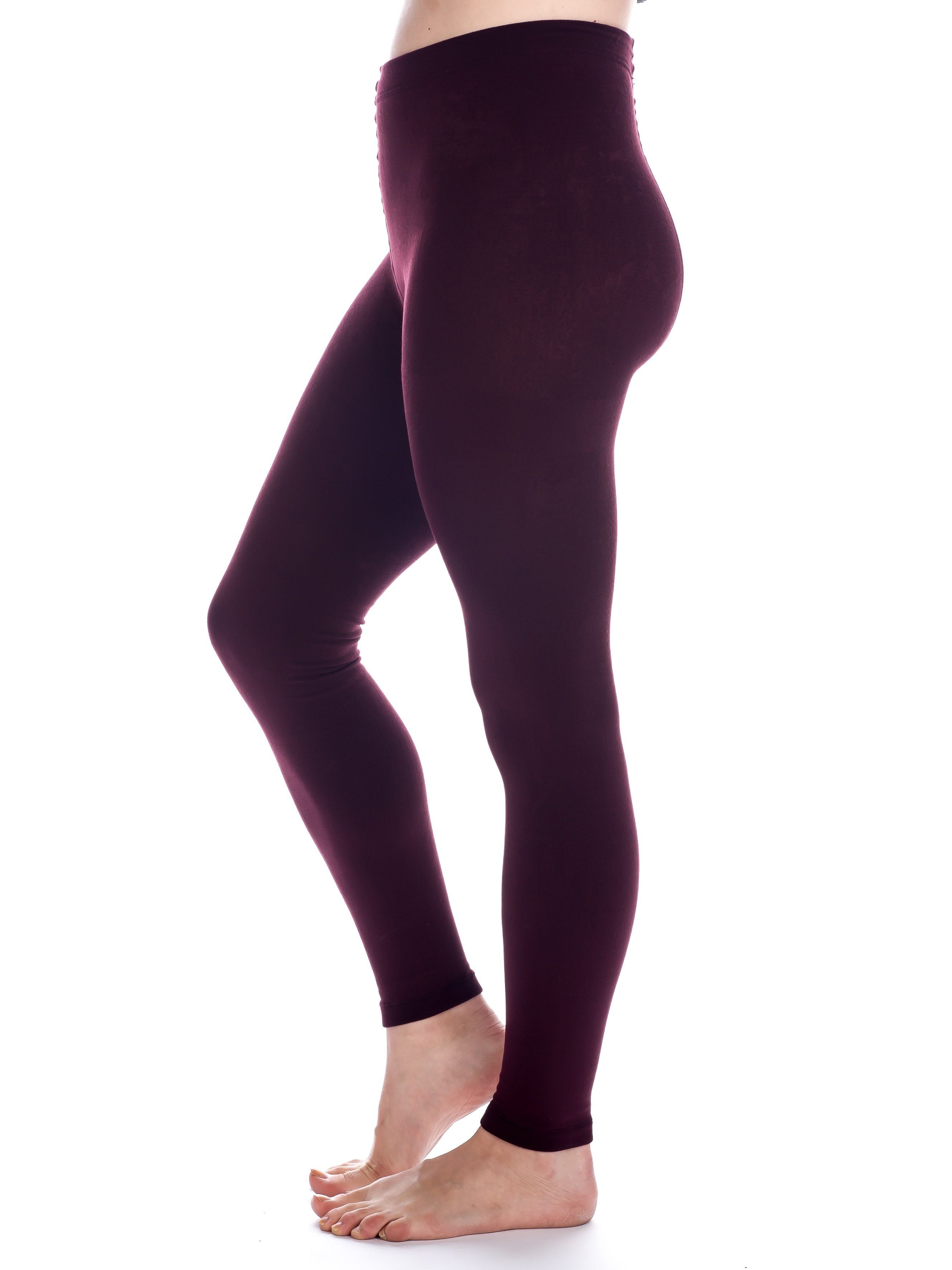 Noble Mount Women's Fleece Lined Footless Tights