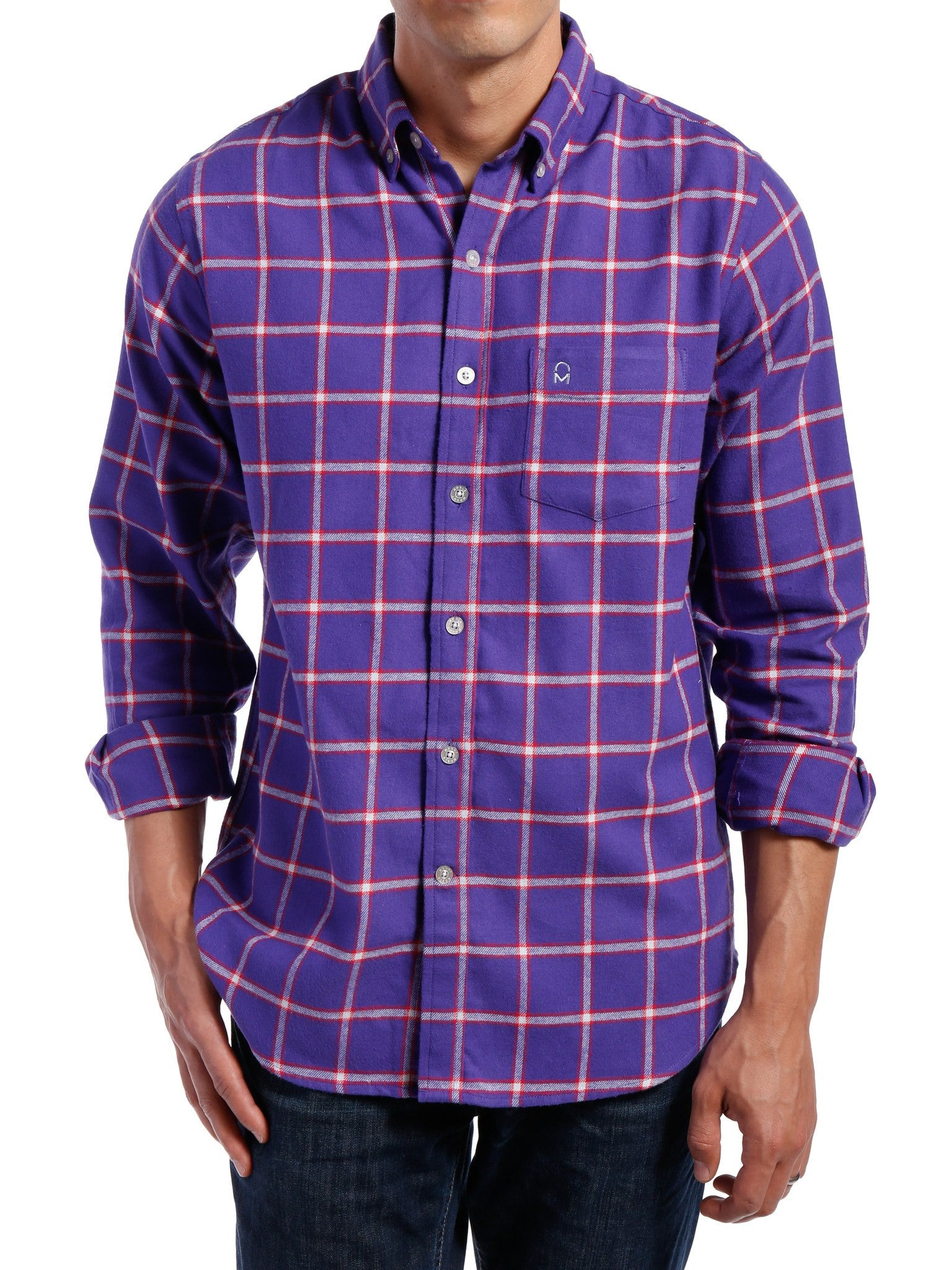 Purple-Red Checks