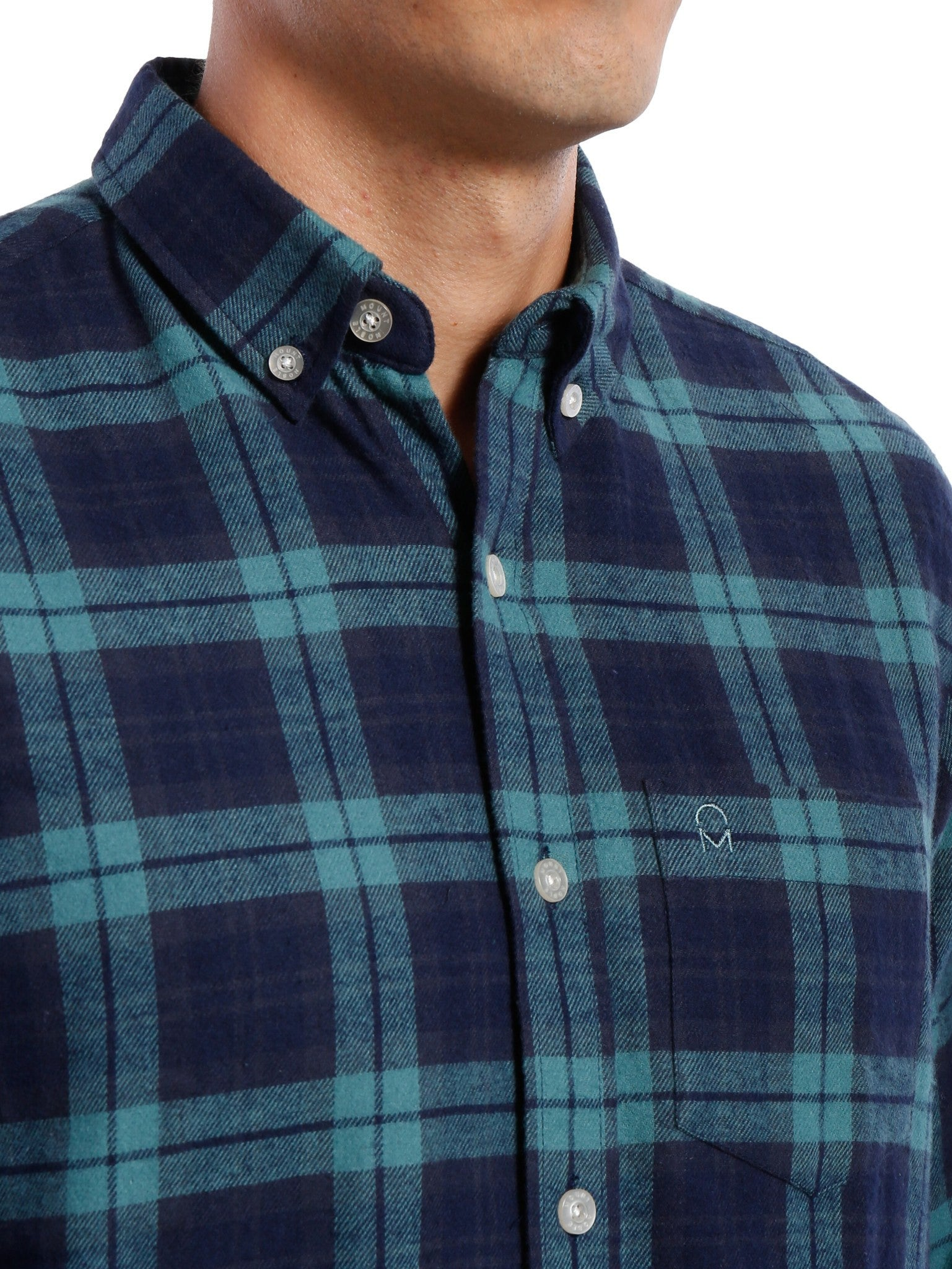 Navy-Green Plaid