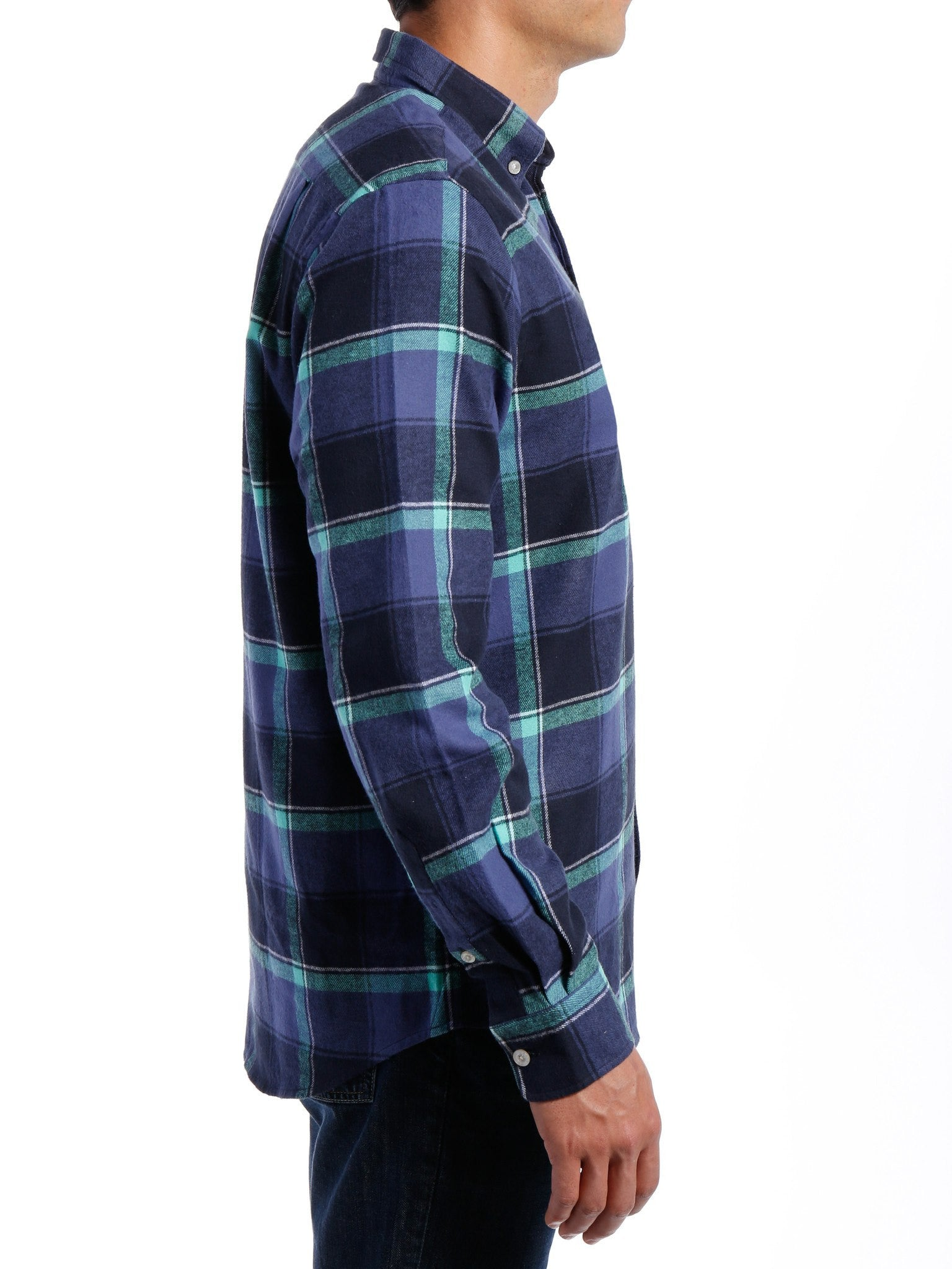 Indigo-Green Plaid