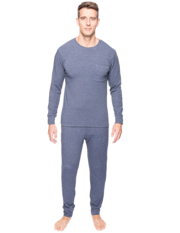 Men's Soft Brushed Rib Sleep Set