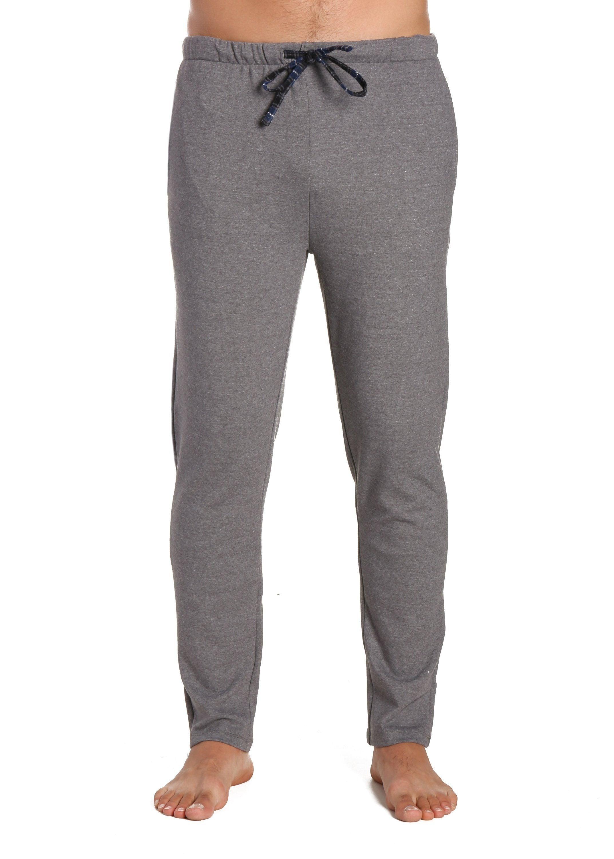Men's Soft Brushed Rib Slim Fit Lounge Pant - Heathered Dark Grey