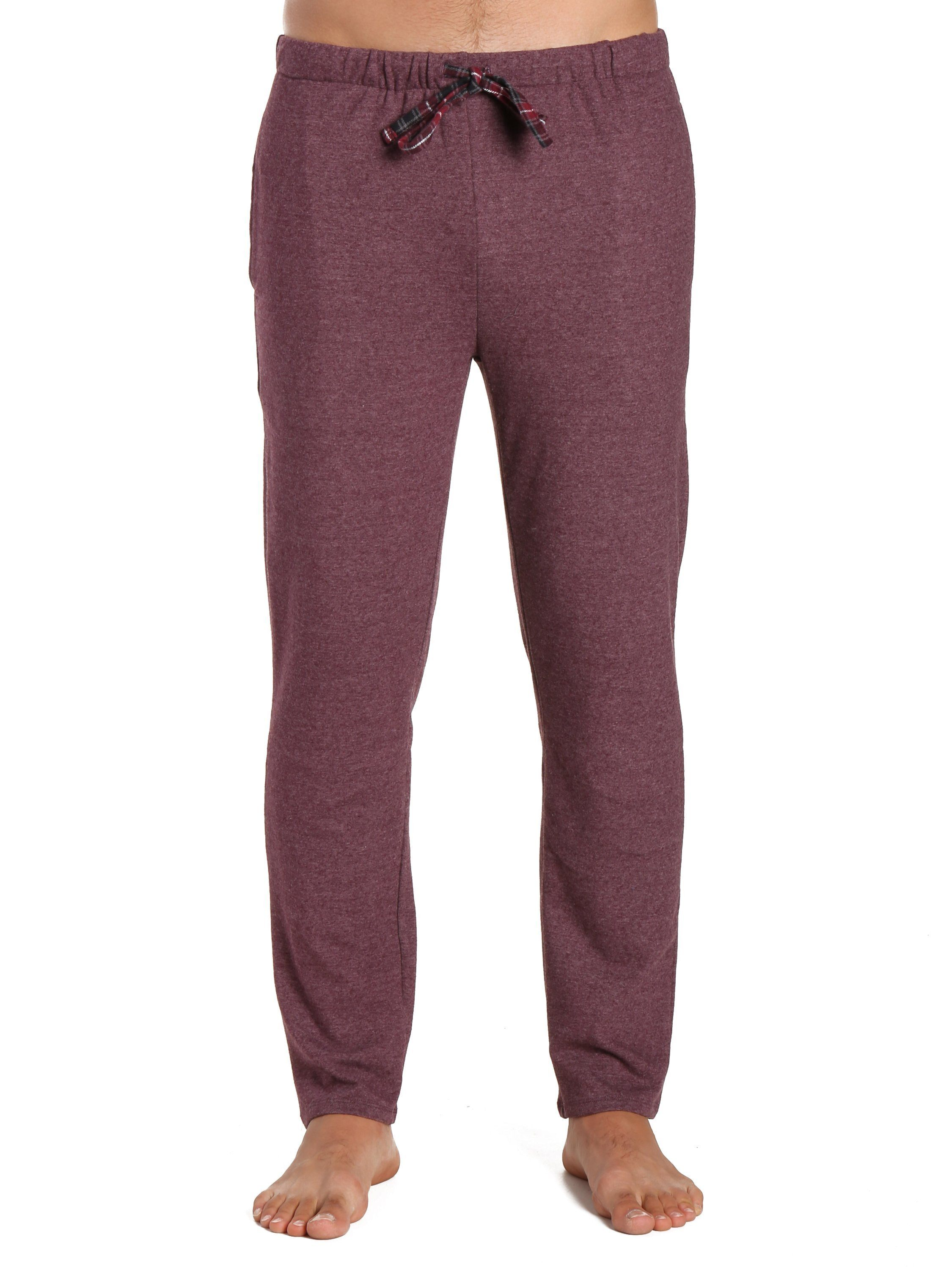 Men's Soft Brushed Rib Slim Fit Lounge Pant - Heathered Fig