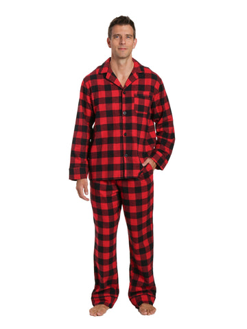 Mens 100% Cotton Flannel Pajama Set