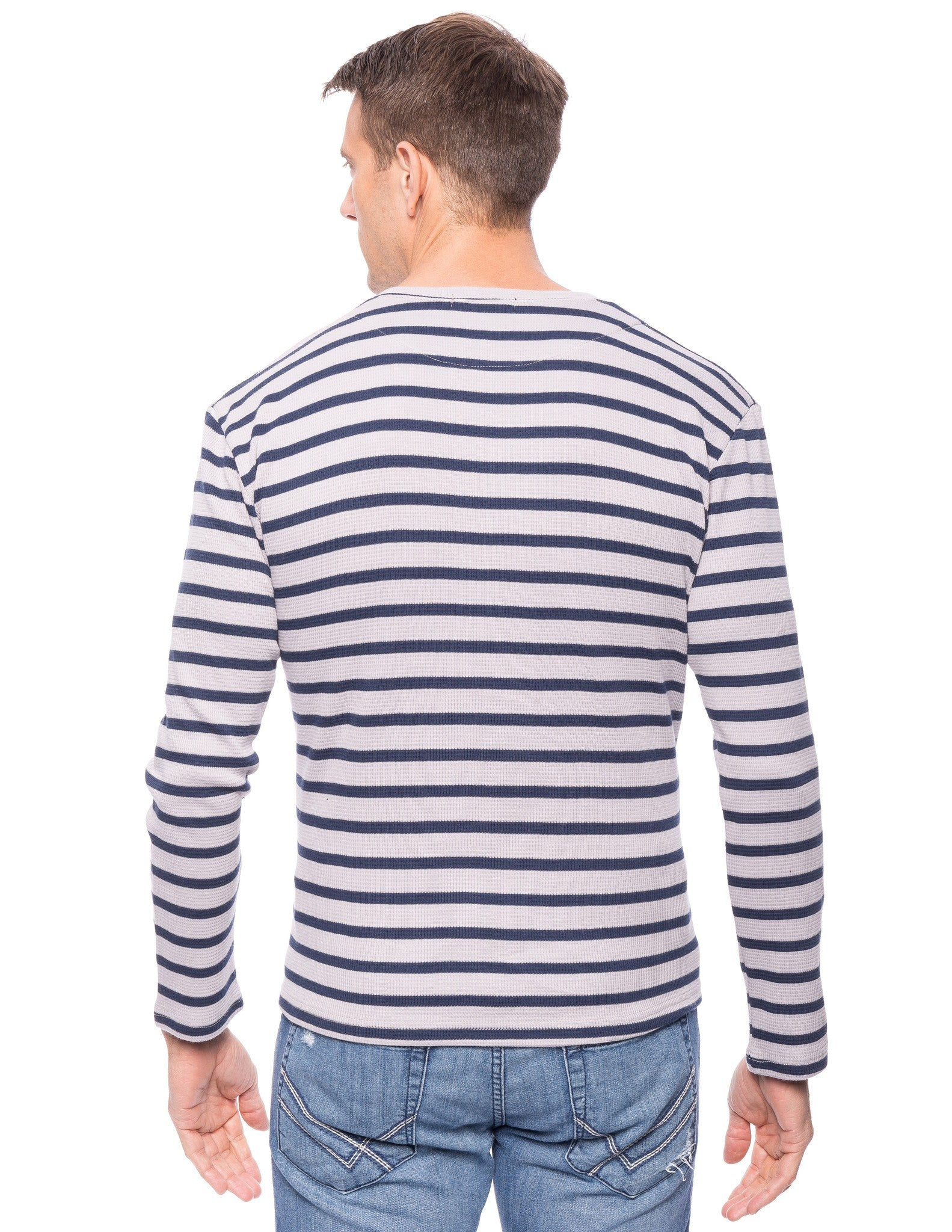 Stripes Heather Grey/Navy