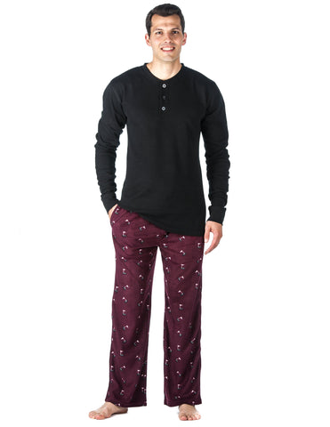 Mens Microfleece Lounge Set
