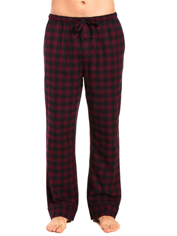 Mens Gingham 100% Cotton Flannel Lounge Pants