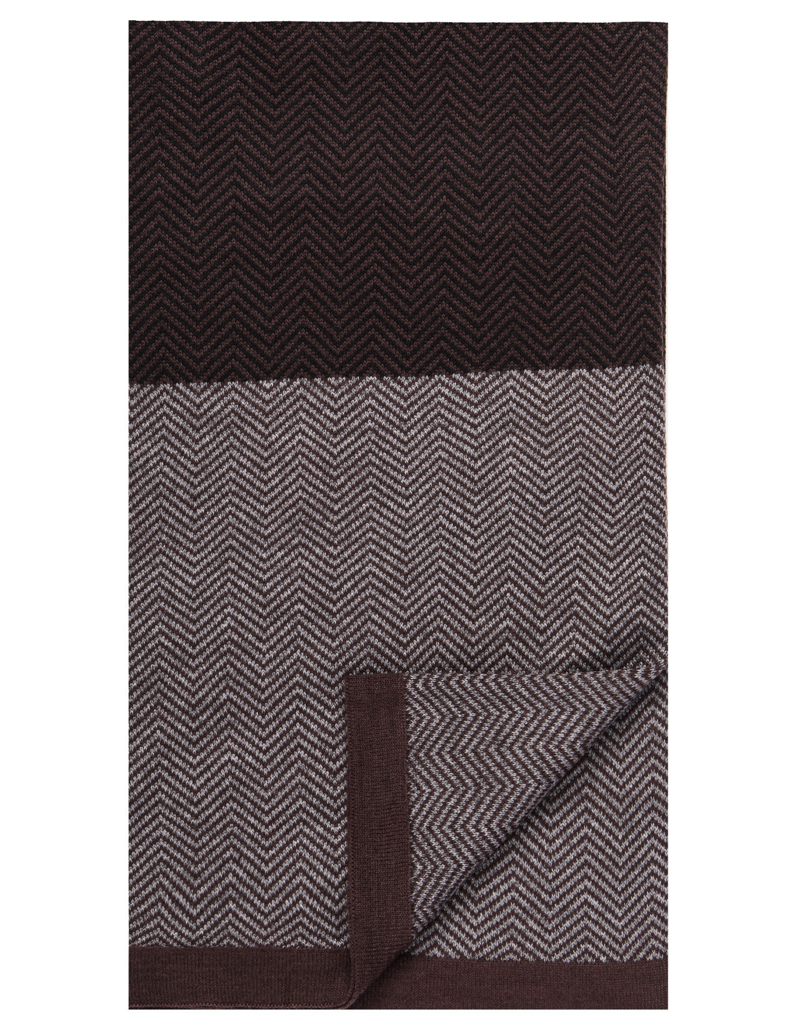 Men's Uptown Premium Knit Color Blocked Herringbone Scarf