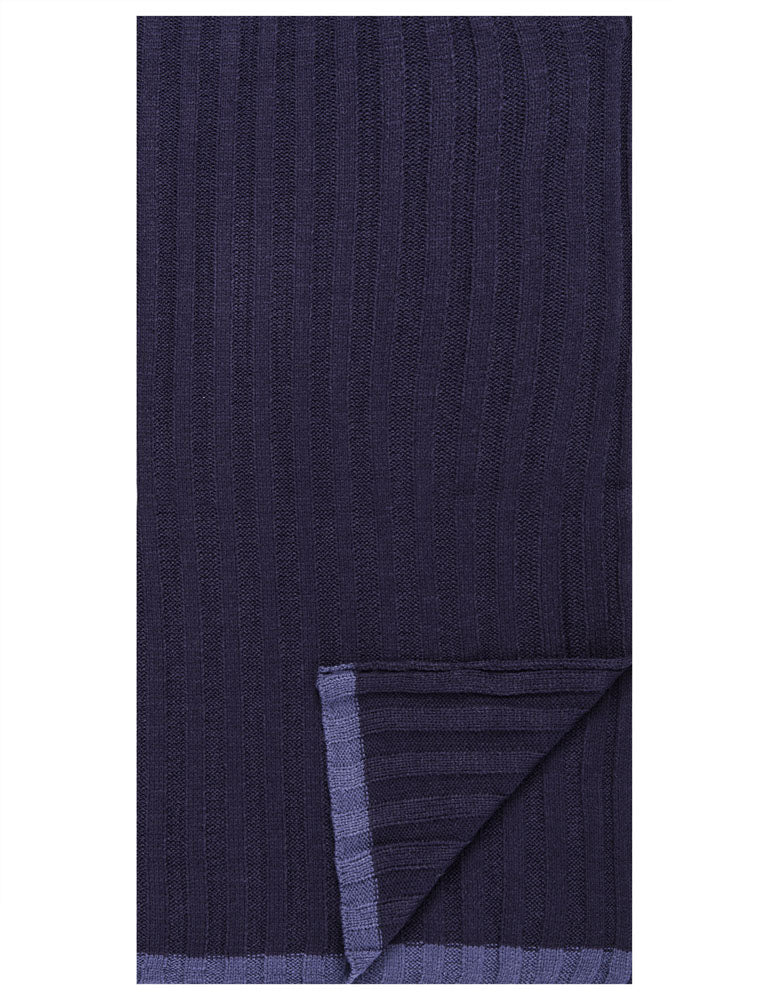 Men's Uptown Premium Knit Texture Ribbed Scarf