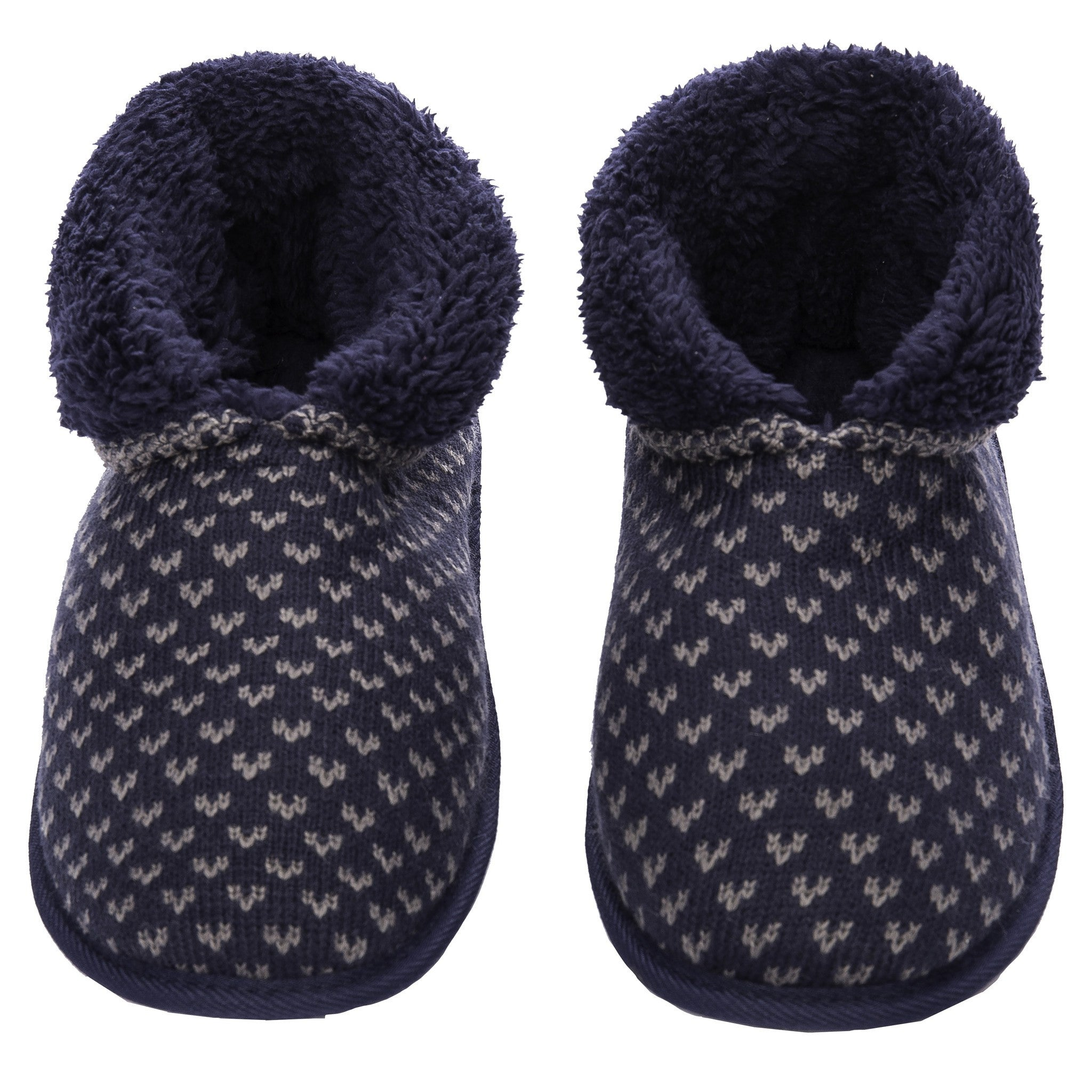 Men's Premium Knit Short Boot Slipper