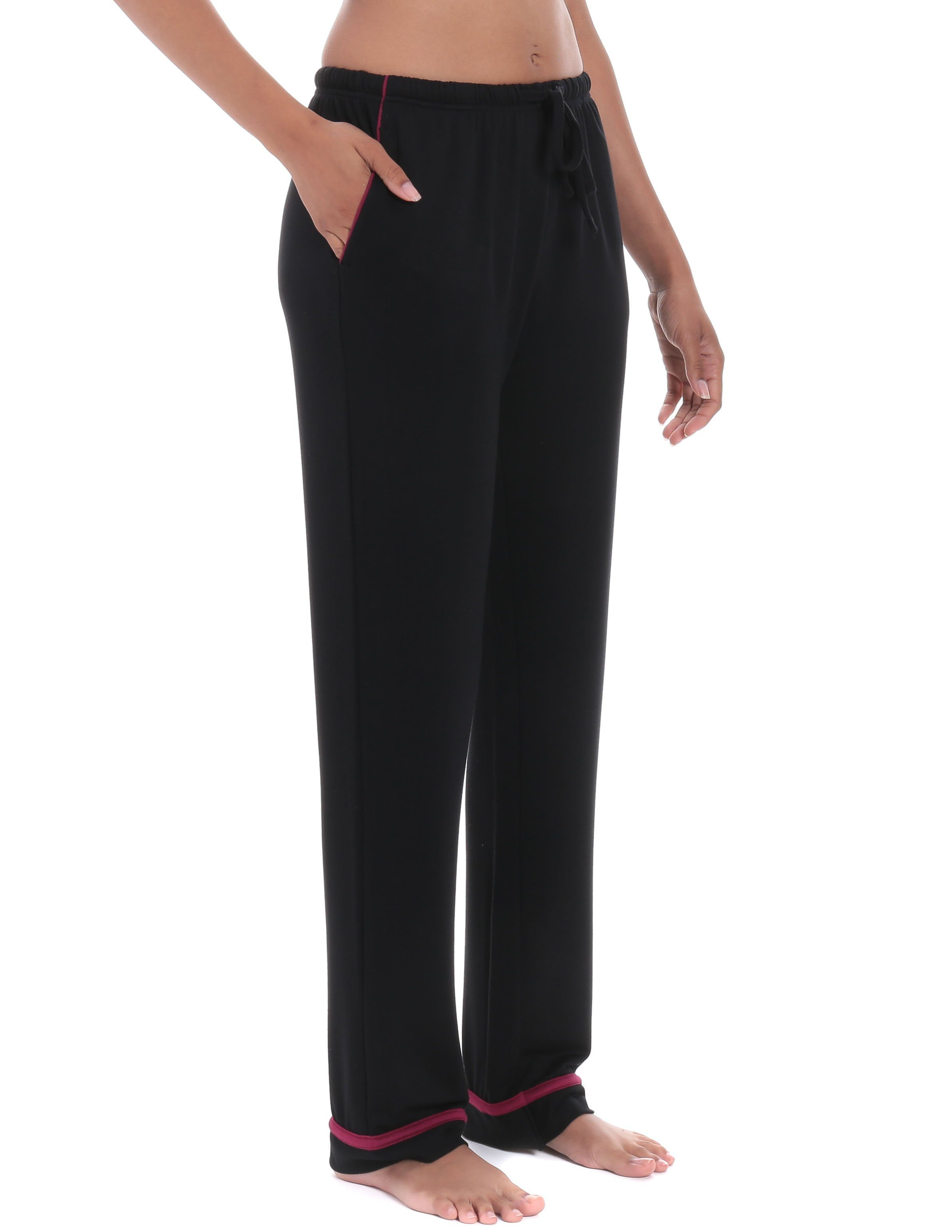 Womens Jersey Knit French Terry Lounge Pants  Noble Mount-9516