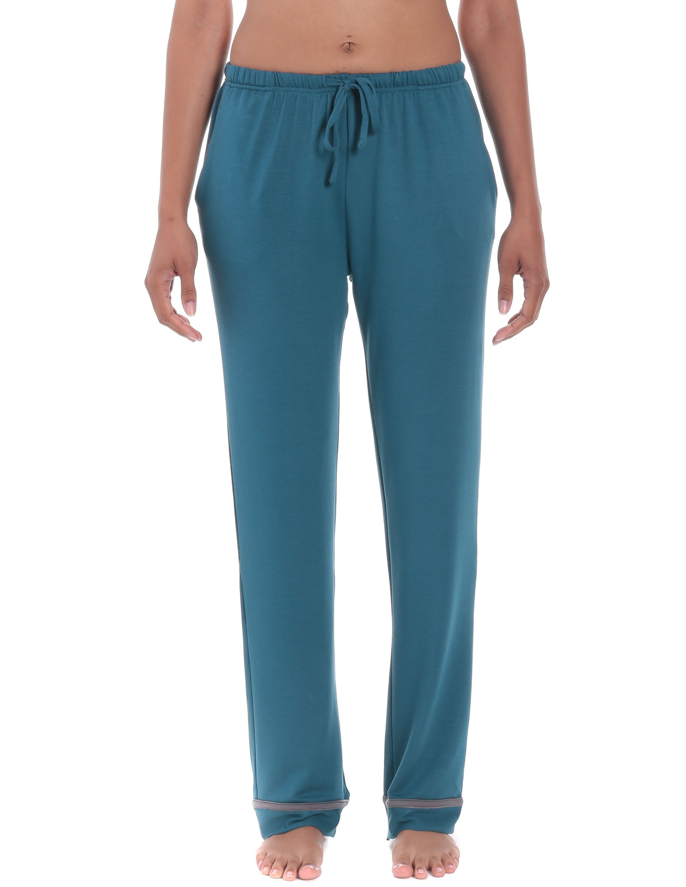 Womens Jersey Knit French Terry Lounge Pants  Noble Mount-6784