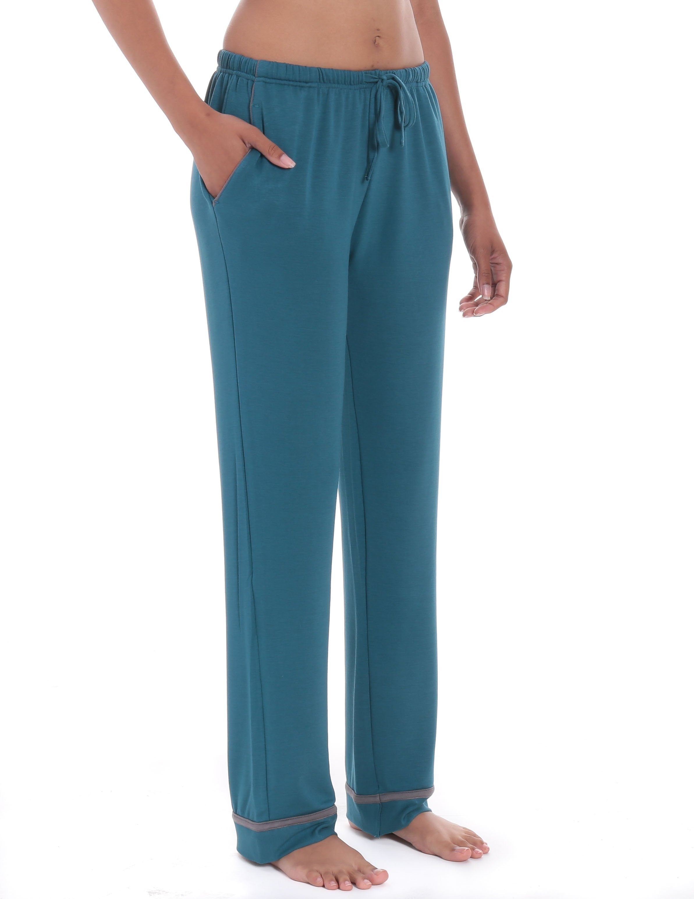 Womens Jersey Knit French Terry Lounge Pants  Noble Mount-5981