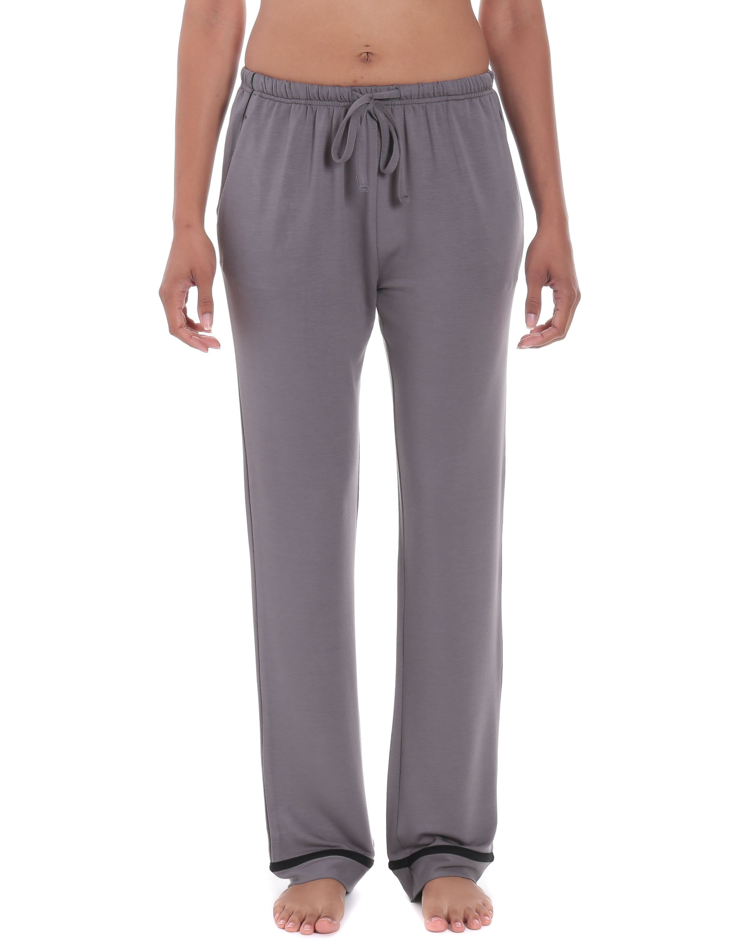 Womens Jersey Knit French Terry Lounge Pants  Noble Mount-6757