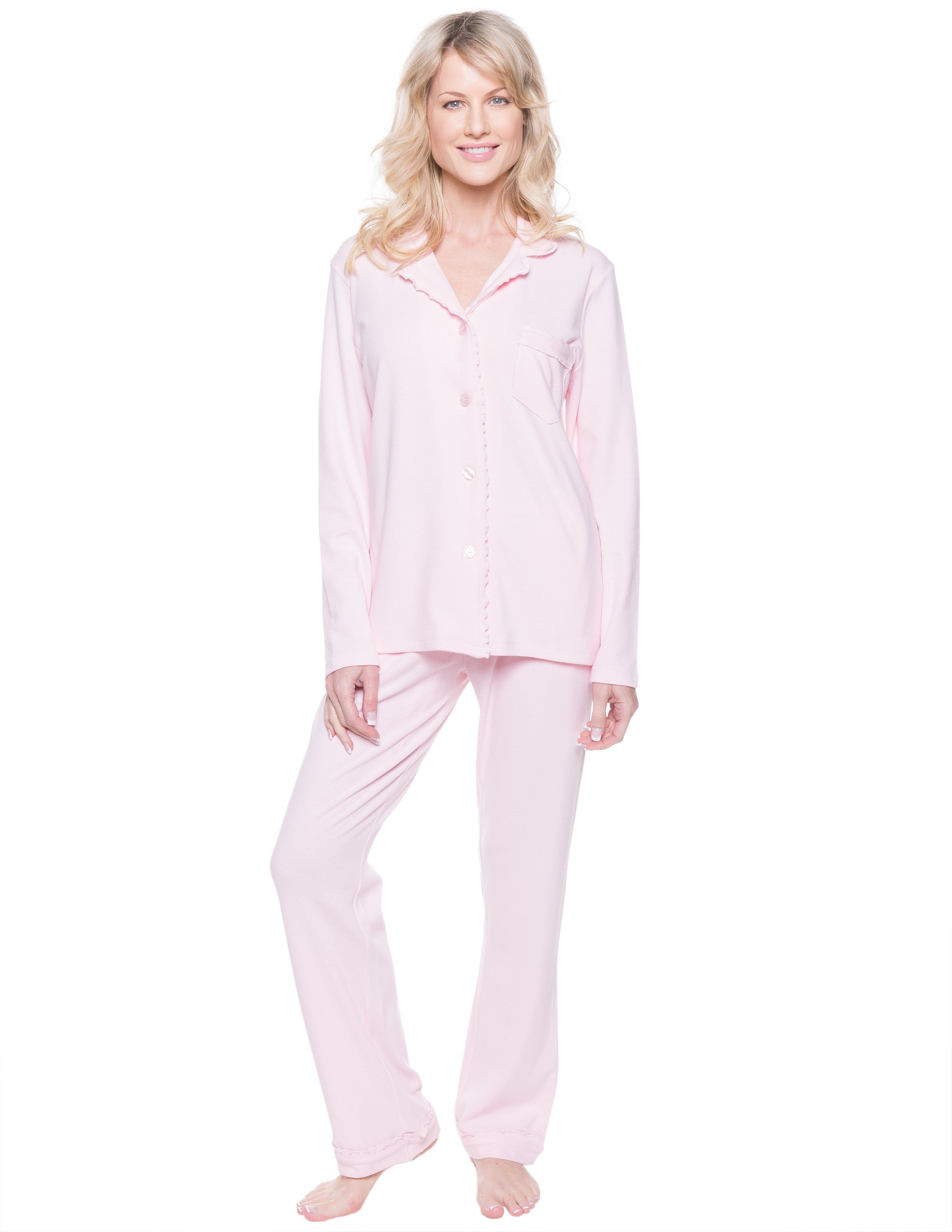 Women's Cozy Rib Pajama Sleepwear Set