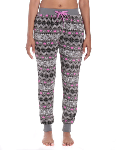 Women's Premium Coral Fleece Plush Jogger Lounge Pants