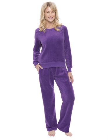 Womens Coral Fleece Lounge Set