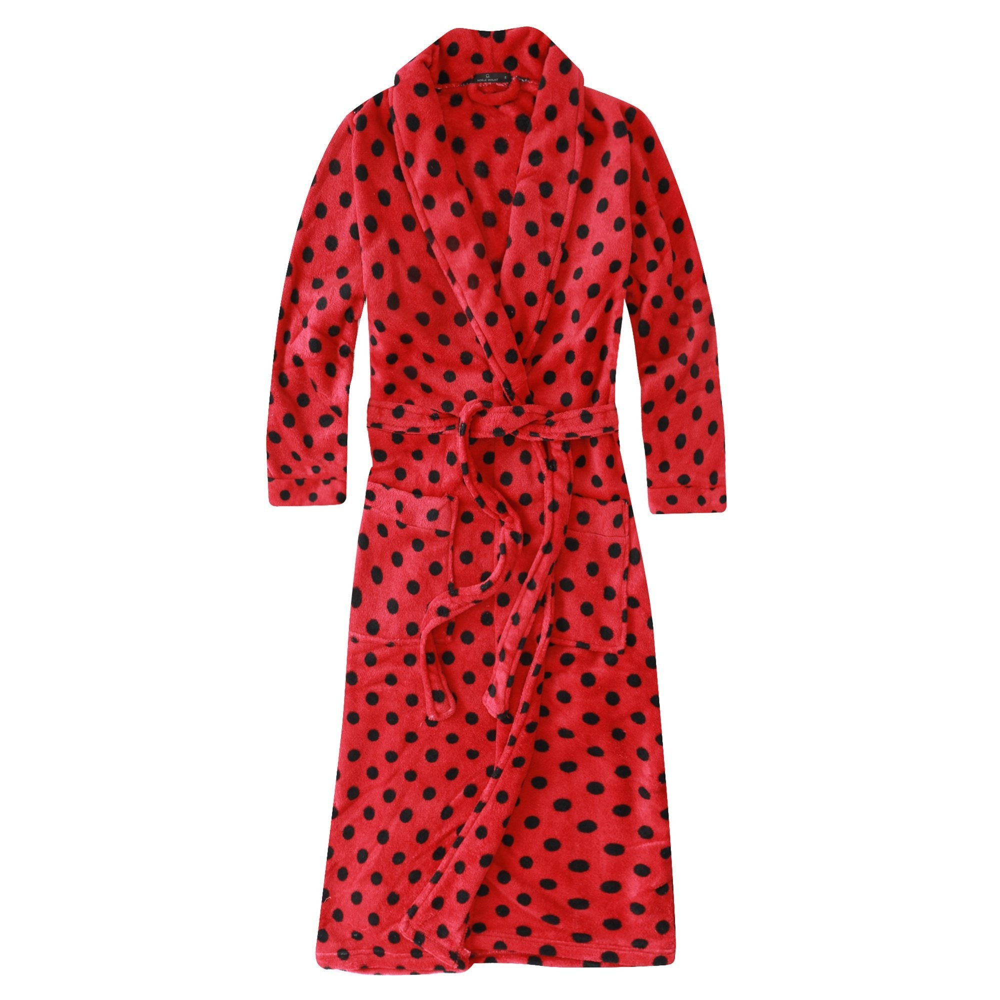 Women's Premium Coral Fleece Plush Spa Robe
