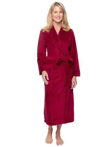 Women's Premium Coral Fleece Plush Spa/Bath Robe