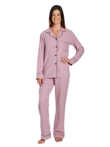 2Pc Lightweight Flannel Womens Pajama Sets