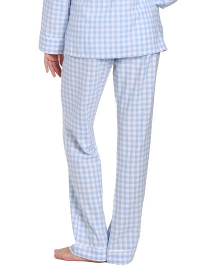 Gingham Blue-White