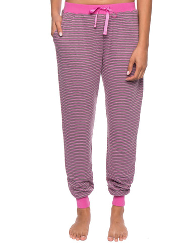Women's Double Layer Knit Jersey Jogger Lounge Pant