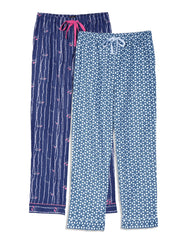 Women's Cotton Flannel Lounge Pants (2 Pack) - Relaxed Fit