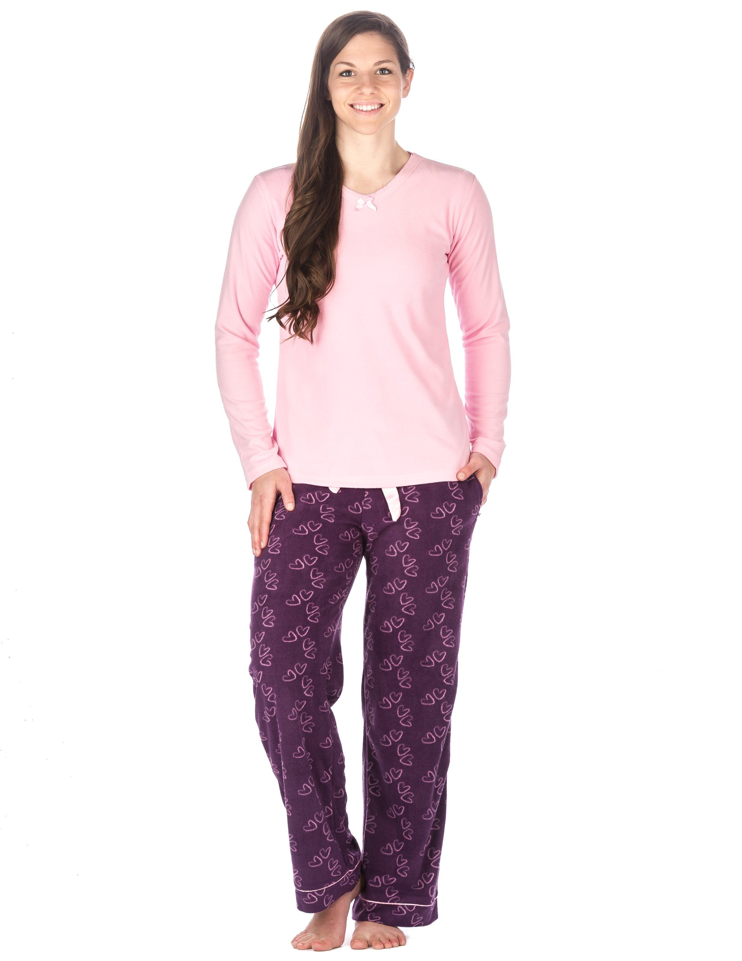 Womens Microfleece Lounge Set
