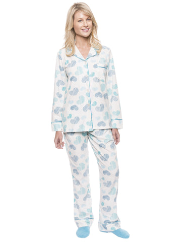 Womens Microfleece Pajama Sleepwear Set