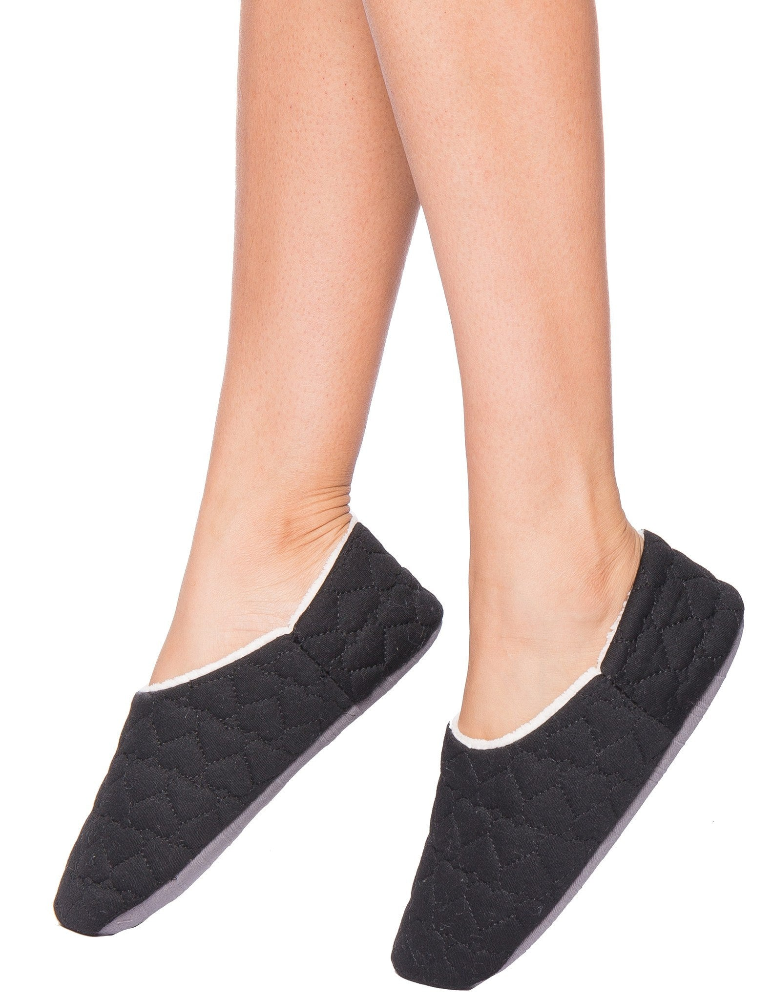 Women's Quilted Hearts Slipper with Shearling Lining
