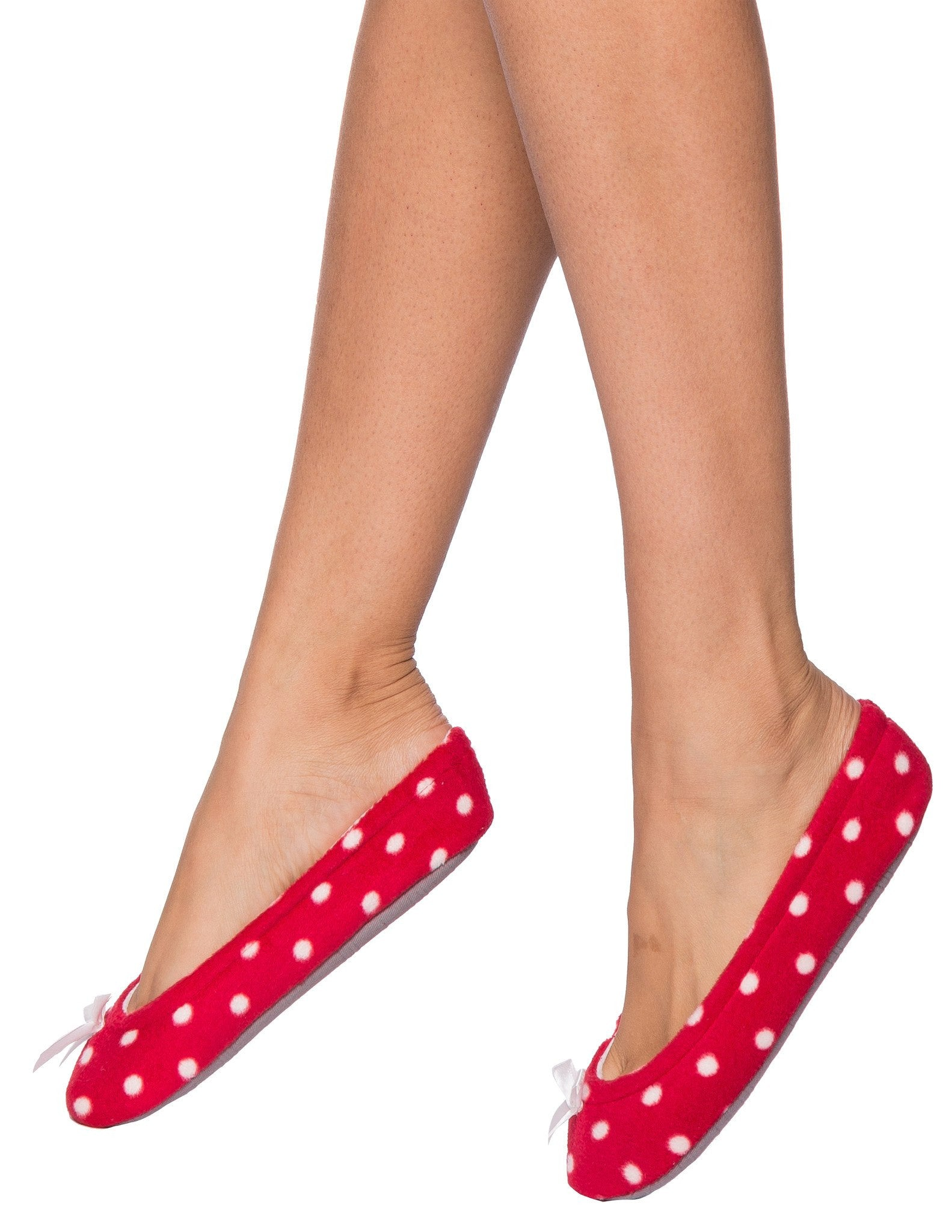 Women's Premium Microfleece Ballet Slipper with Bow Detail