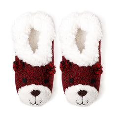Women's Beary Cute Ballet Slipper with Shearling Lining