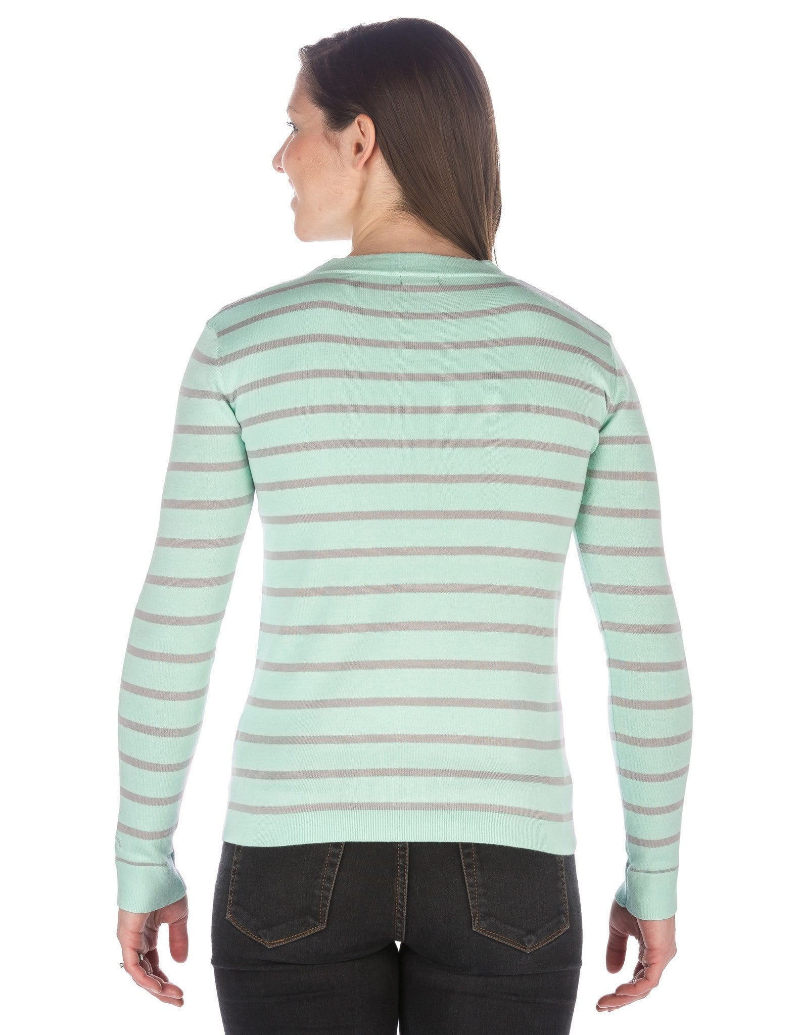 Stripes Aqua - Gray