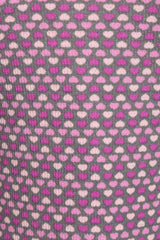 Hearts Multi Charcoal/Pink